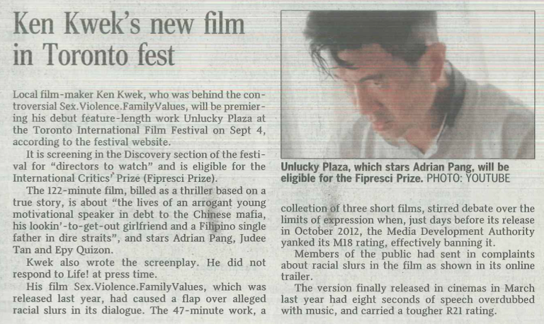 08.20 ST Ken Kwek's new film in Toronto fest